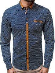 449dbcf1ca97 OZONEE ZAZ 1326 Pánska košeľa Námornícka modrá