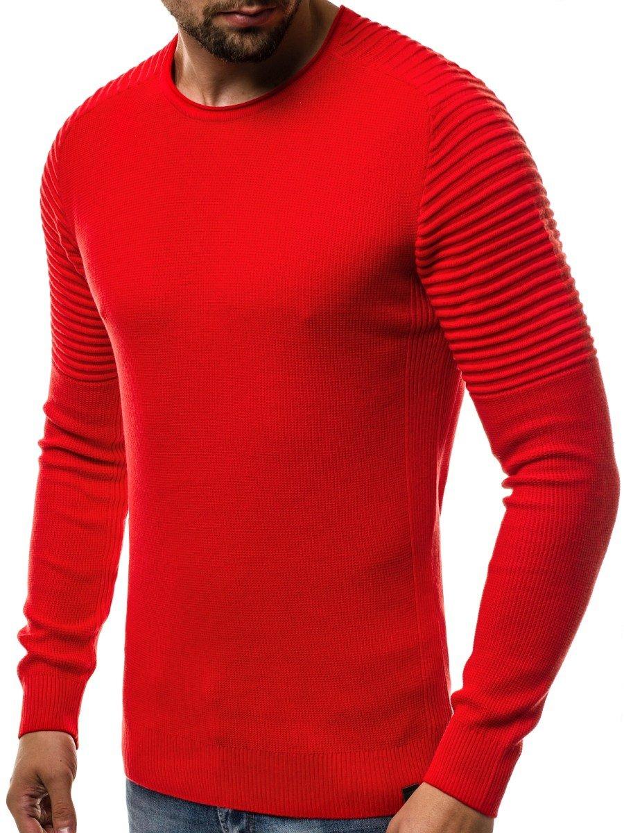 f33ff543faae ... OZONEE B 1146 Pánsky sveter Červený ...