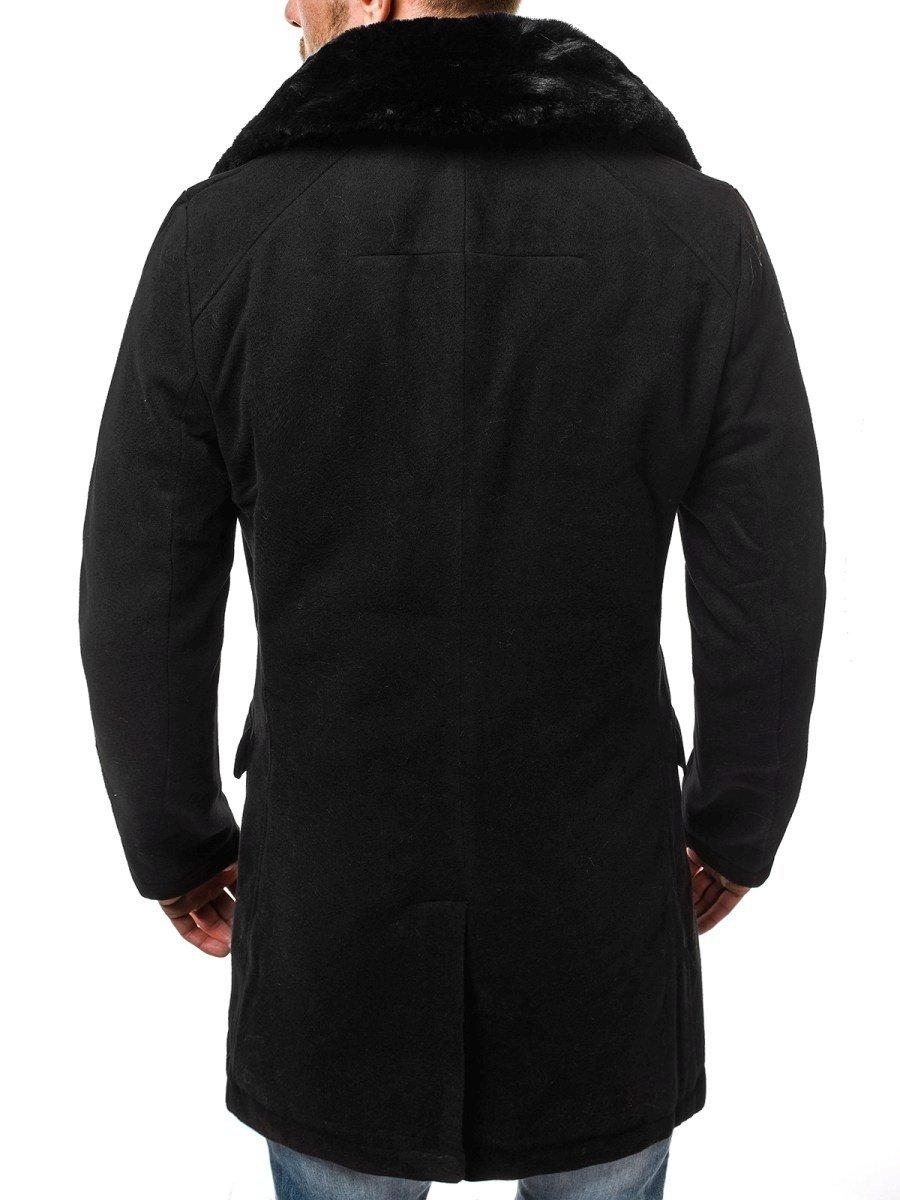 42dd6deaf OZONEE O/88872 Pánsky kabát Čierny | OZONEE.SK