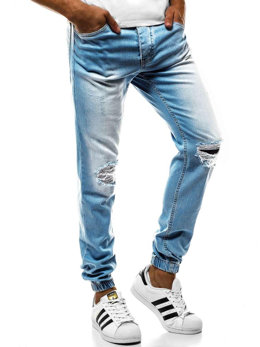 f60023883006 ... OZONEE OT 2044S Pánske nohavice Svetlo-Modré ...